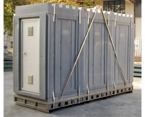 """unita di decontaminazione a tre stadi """"trasportabile""""montata su telaio"""
